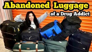 DRUG ADDICTS ABANDONED LUGGAGE / I Bought Abandoned Storage Unit Locker Opening Mystery Boxes