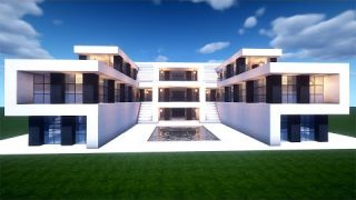 Easy Minecraft: Large Modern House Tutorial – How to Build a House in Minecraft #44