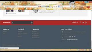 Prestashop 1.6 theme tutorial – Footer