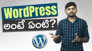 What is WordPress in telugu | WordPress tutorials for beginners in telugu 2019 | Lesson 1